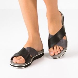 UGG Kari Leather Slip-On Sandals